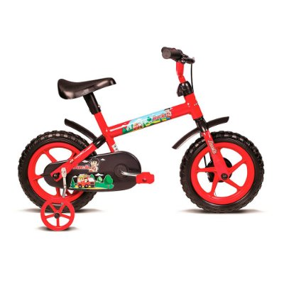 Bicicleta Infantil Aro 12 Jack Vermelho e Preto Verden Bikes