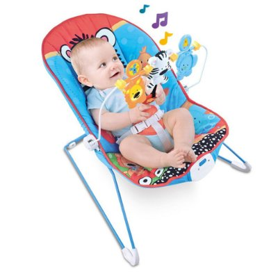 Cadeira Descanso Bebê Vibração e Som Azul BW093AZ Importway
