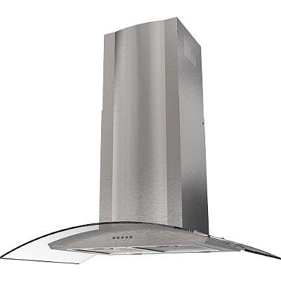 Coifa de Parede Curvature Inox 90cm CFA391 Cadence 110V