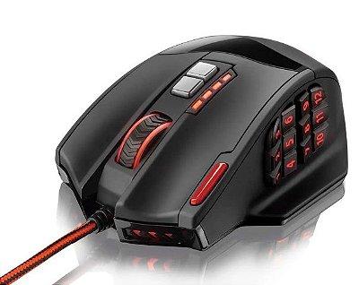 Mouse Gamer Profissional Laser -4000DPI 18 Botões-Multilaser