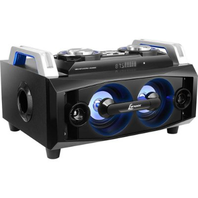 Speaker Boom Bluetooth Lenoxx MS8300 com MP3, Entrada USB e SD - Preto