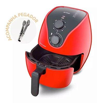 Fritadeira Elétrica Air Fryer 4L 1500W Multilaser Vermelha 127v