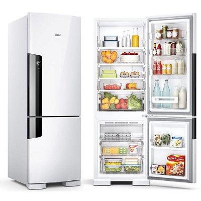 Geladeira/Refrigerador Consul Frost Free 397 litros com Freezer Embaixo CRE44 Branca 110V