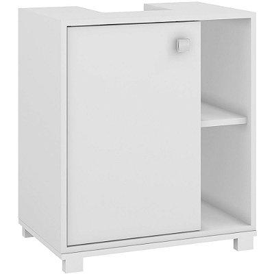 Balcão para Banheiro 1 Porta BBN 01-06 Branco - BRV