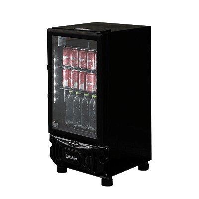 Mini Cervejeira Imbera 109L Porta de Vidro CCV72 Preta 220v
