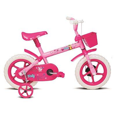 Bicicleta Infantil Aro 12 Paty Rosa e Fucsia Verden Bikes