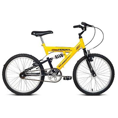 Bicicleta Juvenil Aro 20 Eagle Amarela e Preta Verden Bikes