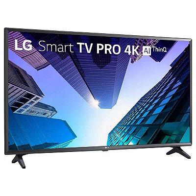 "Smart TV 4K LED LG 49"" ThinqAI Ultra HD Wi-Fi USB 49UM731C0SA"