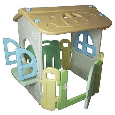 Casinha Infantil Playground Cesta Basquete Importway BW054