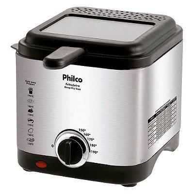 Fritadeira Ellétrica Philco Deep Fry 1,8 Litros Inox 127V
