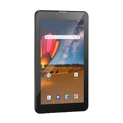 "Tablet 7"" 3G Plus Nb304 Quad Core 16gb Preto Multilaser"