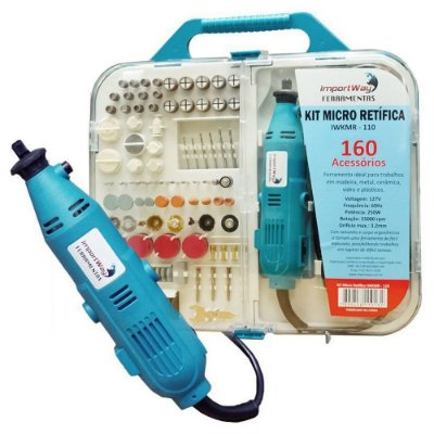 Micro Retifica 250w Kit 160 Peças IWKMR-110 Importway 127v