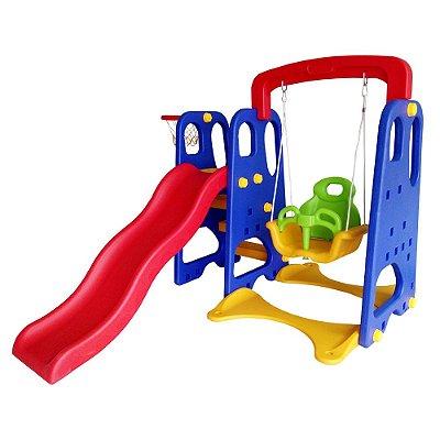 Playground 3x1 Escorregador Balanço Basquete IWPI Importway