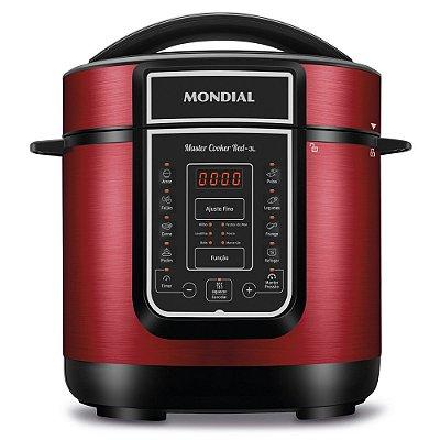 Panela De Pressão Elétrica Digital Master Cooker Red 3L Mondial 127v