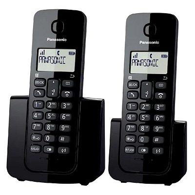 Telefone sem Fio Digital Panasonic Combo Preto KX-TGB112LBB