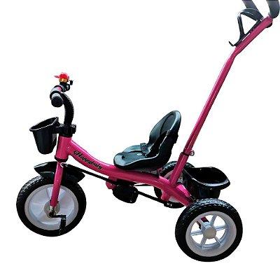 Triciclo Infantil 2x1 Velotrol Haste BW082 Rosa Importway