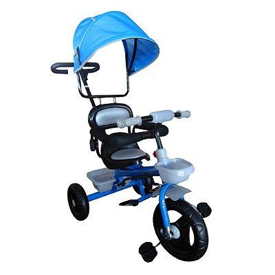 Triciclo Infantil 2x1 Velotrol Capota BW084 Azul Importway