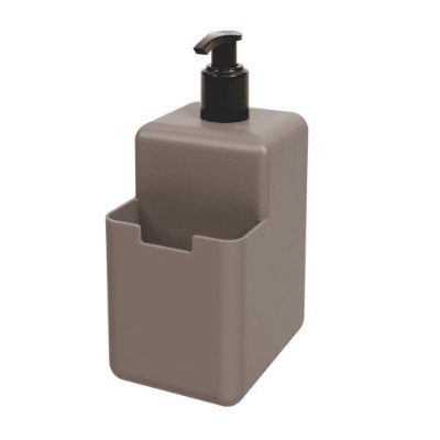 Dispenser 500ml Warm Gray Single Coza 8x10,5x18,2 cm Coza