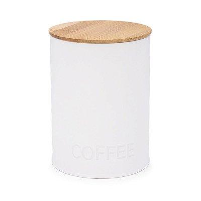 Pote Redondo Café Canister Branco Haus Concept 11,4X15,2cm