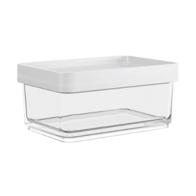 Pote Clear Mini Modular 200ml 8x12x5cm Branco Brinox