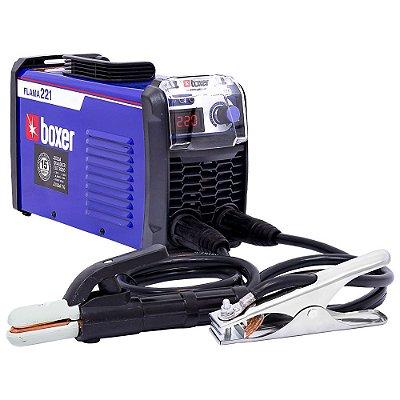 Máquina Inversora de Solda Boxer Flama 221 Digital 220A 220V