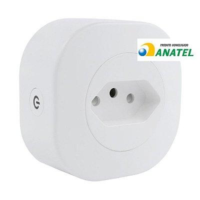 Adaptador de Tomada Inteligente Wi-Fi Geonav Bivolt Branco