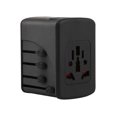 Carregador Universal Viagem 4 USB + 1 USB-C TLCH65BK Geonav