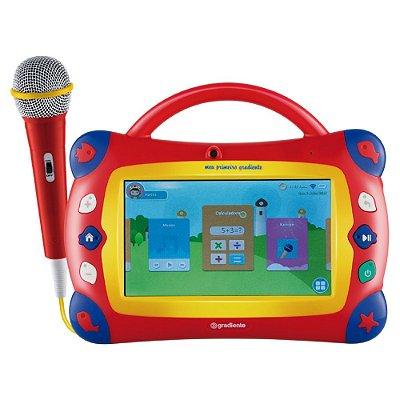 Tablet Infantil e Karaokê Meu Primeiro Gradiente GTB106