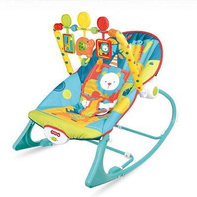 Cadeira Descanso Bebê Vibração e Som Azul BW094 Importway