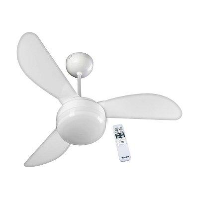Ventilador de Teto Fenix Branco 3 Pás Controle Ventisol 220v