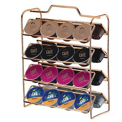 Organizador Cápsulas Dolce Gusto Aço Rosé Gold 1145RG Future