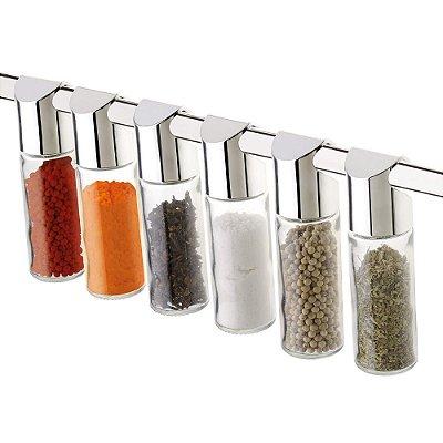Vidros Para Condimentos 6 Peças Cromado 2421 Future