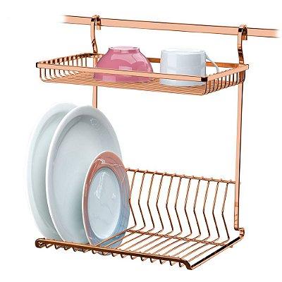 Escorredor Louças de Parede Aço Rosé Gold 2800RG Future
