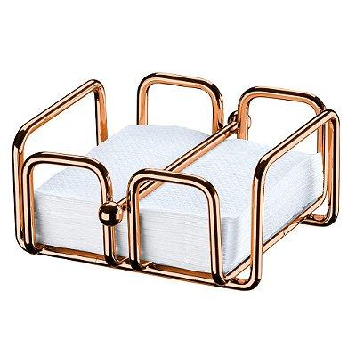 Porta Guardanapos Pequeno Aço Rosé Gold 1193RG Future