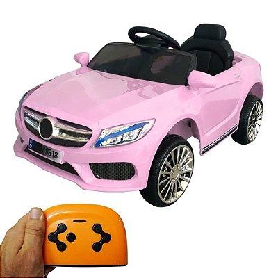 Mini Carro Elétrico Infantil 6V Rosa BW-007RS Importway