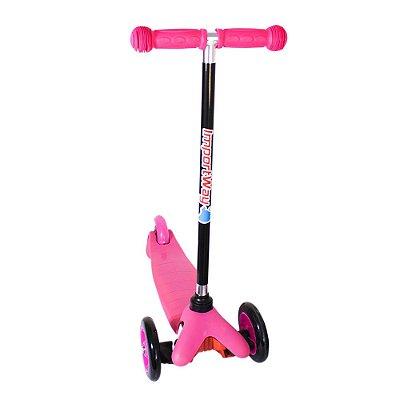 Patinete Infantil 3 Rodas Regulável Rosa BW011 Importway