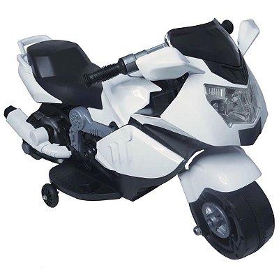 Mini Moto Elétrica Infantil 6V Branca BW-044BR Importway