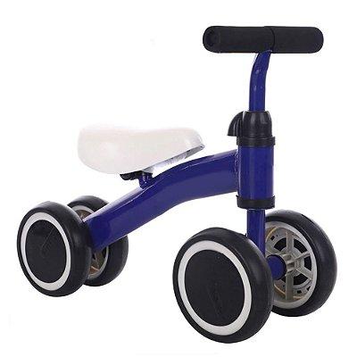 Triciclo Balance Infantil 4 Rodas Azul BW107 Importway