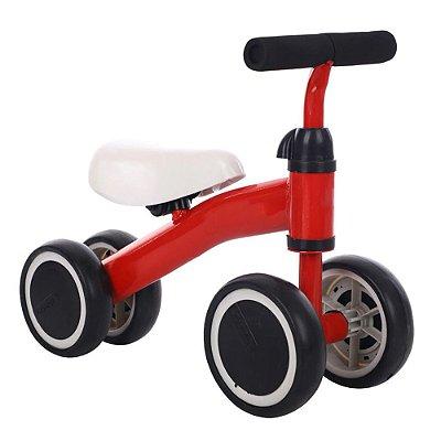 Triciclo Balance Infantil 4 Rodas Vermelho BW107 Importway