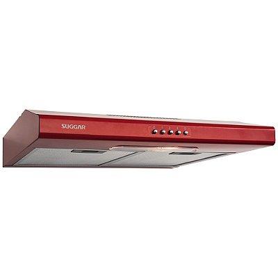 Depurador de Ar Slim 60cm 3 Vel. Vermelho Suggar 127v