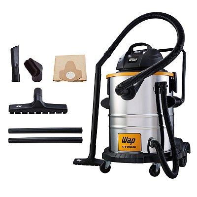 Aspirador de Pó e Água Profissional WAP GTW Inox 50 220v
