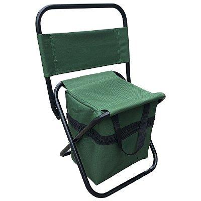 Cadeira Camping/Pesca Com Bolso IWCPC001 Verde Importway