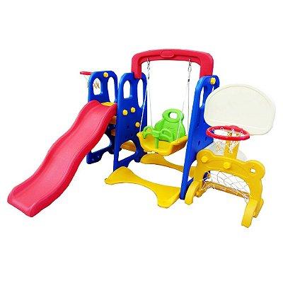 Playground Infantil 5x1 Escorregador e Cesta BW050 Importway