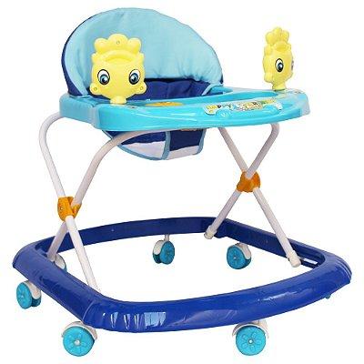 Andador Infantil Com Som e Brinquedos BW062AZ Azul Importway
