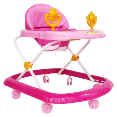 Andador Infantil Com Som e Brinquedos BW062RS Rosa Importway