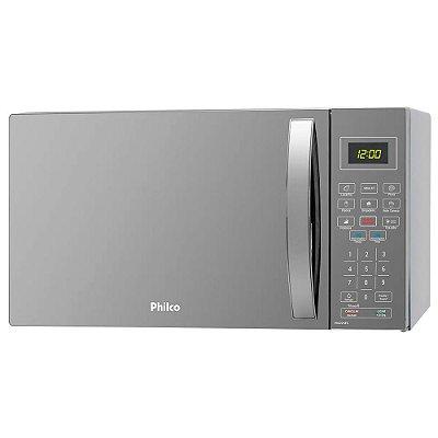 Micro-Ondas Espelhado Philco PMO26ES 26L 1400W Prata 127v