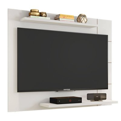 Painel Para TV Até 58 Polegadas 135cm Cross Branco Brilho