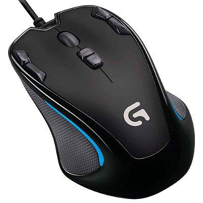 Mouse Ótico Gamer USB Logitech G300S 2500dpi Programável