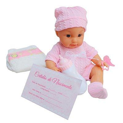 Boneca Infantil Faz Xixi Com Mamadeira BW100 Importway