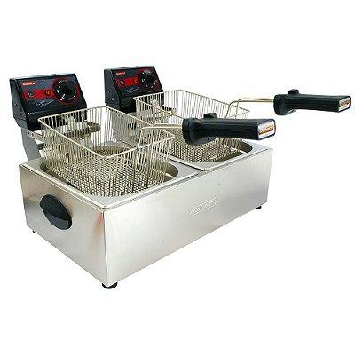 Fritadeira Elétrica Pro 2 Cubas 5l Frita Fácil Cotherm 220v